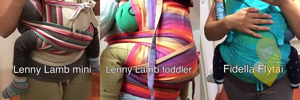 lenny lamb mei tai toddler mini fidella flytai