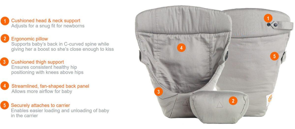 ergobaby infant insert grey umetak jastucic